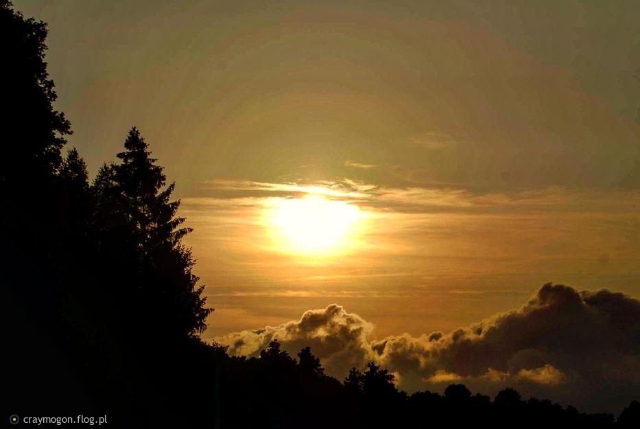 Bytów - sunset