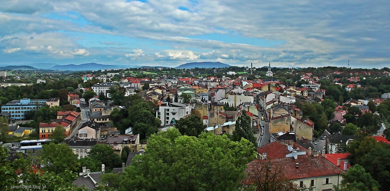 Widok na Cieszyn z wieży Piastowskiej