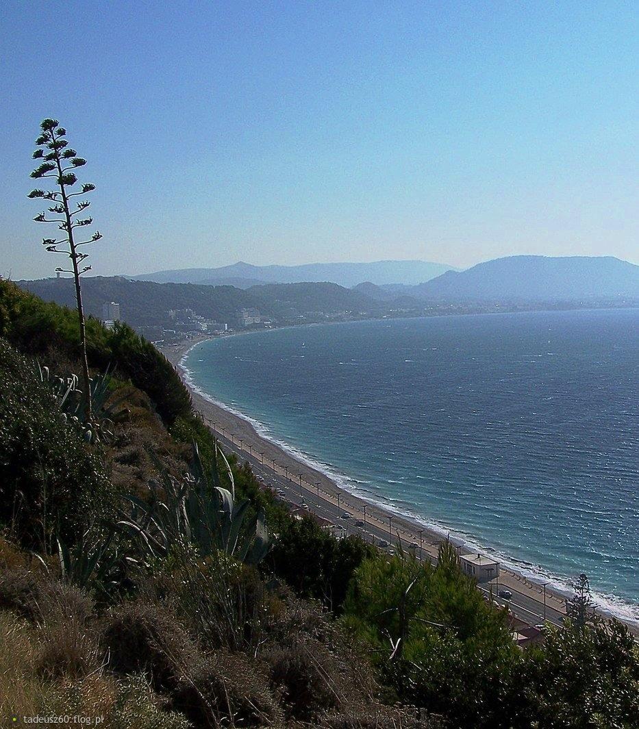 Wybrzeże wyspy Rodos z pozdrowieniami:)