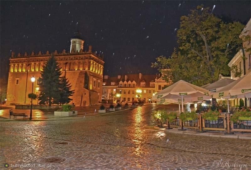 Noc meteorów na Sandomierskiej starówce:)