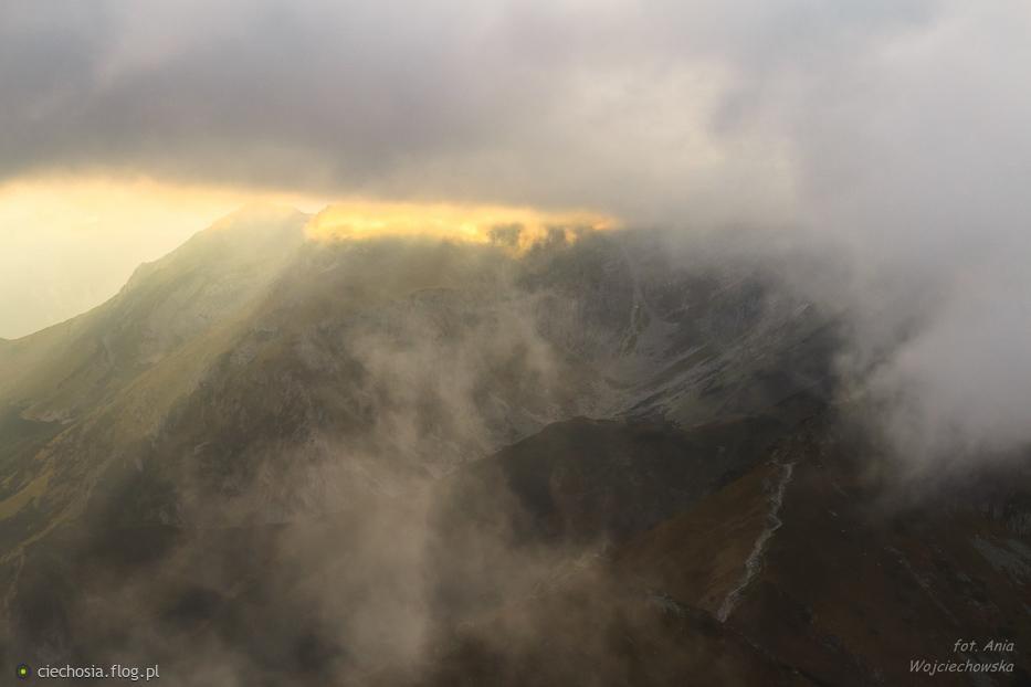 zachód słońca na Kasprowym Wierchu