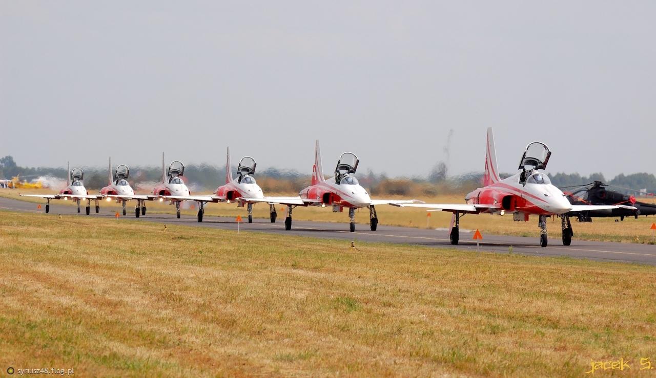Patrouille Suisse, Northrop F-5 Freedom Fighter - Air Show Radom 2015 ,(51.390443, 21.218777)