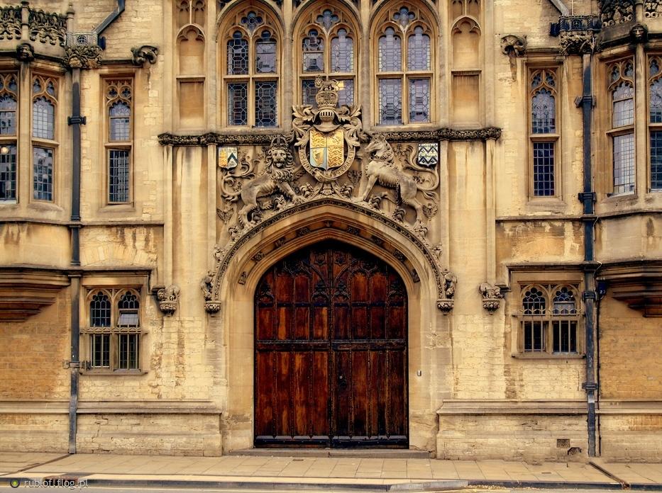 Fasada Budynku W Oxfordzie Fotoblog Rublof Flog Pl