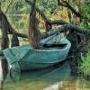 Łódka na rzece ...