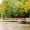 Przystań nad jeziorem Duc<br />k Pond  :: Pozostałe zdjęcia z dziki<br />ej części jeziora wraz z <br />duchem opiekuńczym w sloń<br />cu.