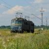 ET41-044-B :: ET41-044-B luzem podąża w kierunku Tarnowa opuszczając mijankę w Radlnej.