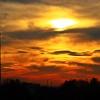 Zachód słońca między kom<br />inami