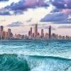 koniec i początek dnia w <br />Surfers Paradise