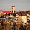 Widok na Sanktuarium MB O<br />strobramskiej, Skarżysko-<br />Kamienna, listopad 2017