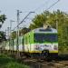 EN57-1908 :: Dziewiętnastki dwie, jako<br /> pociąg KM linii R7, rela<br />cji Warszawa Zachodnia Pi<br />lawa minął semafor wj